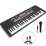 RenFox 49 Key Piano Keyboard Portable Electronic Keyboard Kids Piano Beginner Digital Music Piano Keyboard & Microphone Teaching Toy Gift for Kids Boy Girl