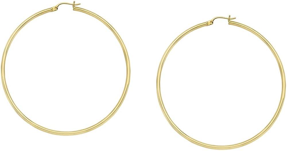 Hoop Earrings, 10Kt Gold Polished Hoops 2/35mm