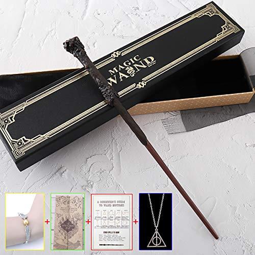 """C-Y Harry Potter, Hermione, Sirius, Dumbledore, Narcissa Wand con Caja de Cinta Tapa Dura Cane de la Serie de 14""""Harry Potter Varita mágica de los Accesorios de Halloween y de Navidad,Harry Potter"""