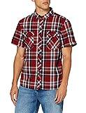 Brandit Herren Roadstar Shirt Hemd, Rot/Schwarz/Weiß, 4XL