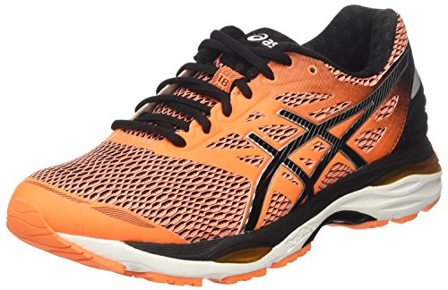 Asics Gel-Cumulus 18, Scarpe da Corsa Uomo, Arancione (Hot Orange/Black/White), 40 EU