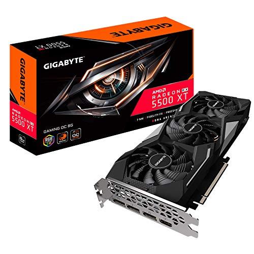 GIGABYTE Radeon RX 5500 XT Gaming OC 8G Grafikkarte, PCIe 4.0, 8GB 128-Bit GDDR6, GV-R55XTGAMING OC-8GD Grafikkarte