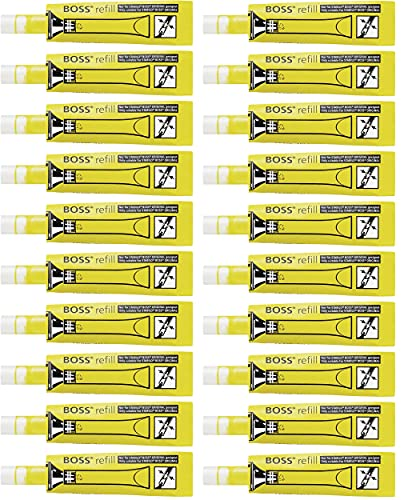 Recambio de tinta para STABILO BOSS ORIGINAL - Caja con 20 unidades color amarillo