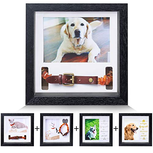 KCRasan Pet Memorial Picture Frame - Dog Memorial Sentiment Frame for Loss of Dog Gifts - Pet Collar Frame Remembrance Sympathy Dog or Cat Tribute Keepsake