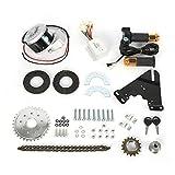 Elektro Ebike Conversion Thumb Kit 250W 24V Elektrofahrrad Umbausatz Wheel Electric Bicycle Motor Conversion Kit für Fahrrad (250W24V Digital Display Kit)