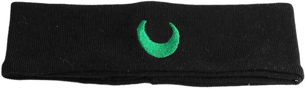 SNAHE Yoga Soft Kpop Embroidery Sweat Absorption Women Moon Headband, Sport Hairband,Dance Headwrap Knitted(Green)