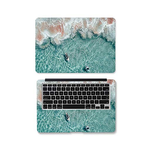 Peach-Girl - Adhesivo decorativo para ordenador portátil, ola de mar, mármol 12 13 14 15.6 17 pulgadas para Lenovo / Dell/HP/ASUS/Xiaomi Air 13.3 / Macbook -Jd-459-15