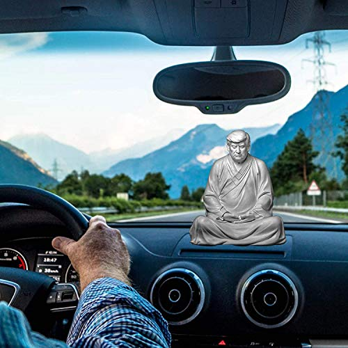 Buddhist Monk Robes Donald Trump Buddha Statues Figure 2024, Trump Novelty Gifts Feng Shui Decor, Suitable for Cars, Office Desk and Home Accessories