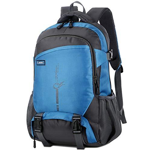 FLAMEHORSE High Capacity Waterproof Backpack Durable Walking Backpack School Backpack Rucksack Backpack (Blue)