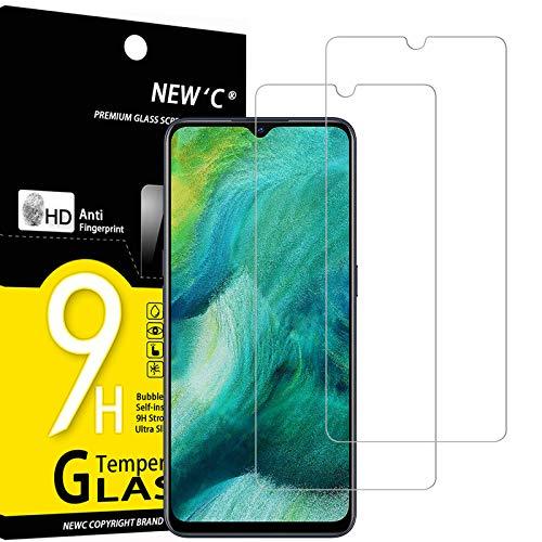 NEW'C 2 Stück, Schutzfolie Panzerglas für Oppo Find X2 Lite, Frei von Kratzern, 9H Festigkeit, HD Bildschirmschutzfolie, 0.33mm Ultra-klar, Ultrawiderstandsfähig