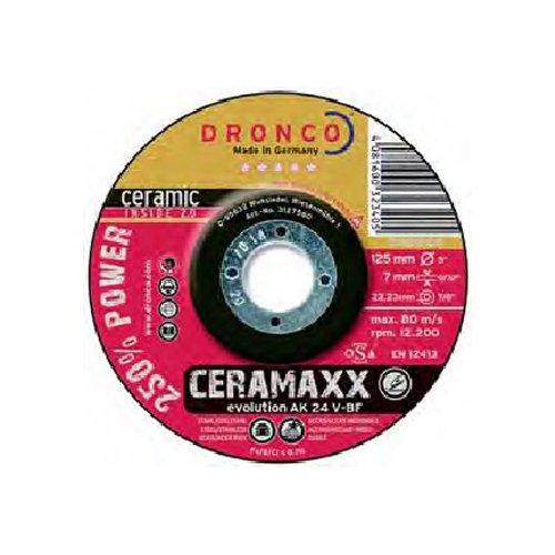 in acciaio INOX Dronco 1111512100/Osborn Evolution AK 46/V Ceramaxx disco per taglio in metallo 13280/rpm 115/mm di diametro x 1.6/mm di spessore x 22.23/mm diametro foro confezione da 25