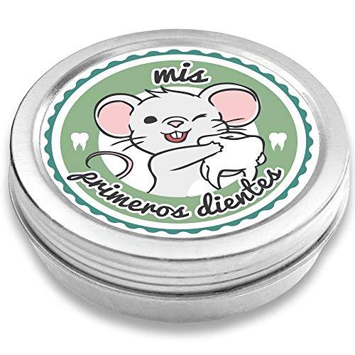 FANS & Friends Caja para dientes de leche para niños y niñas, e-book gratis incluido, Caja para guardar los dientes de bebés, el Ratoncito Pérez (petrol)