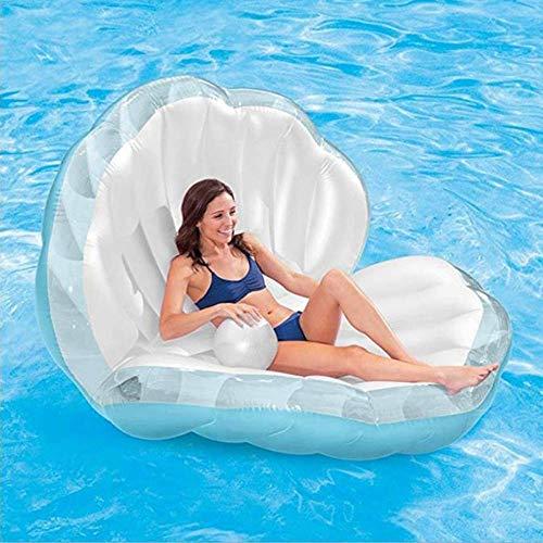 YANGSANJIN Aufblasbare Schale Schwimmende Reihe PVC Wassersofa Perle Schwimmbett Wasserbett Mount Wasser Schwimmbett Schwimmring Niedlich (aufblasbar)
