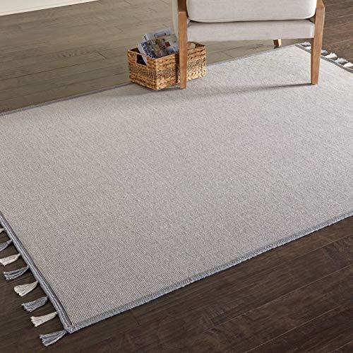 Marca de Amazon - Movian Iskar, alfombra rectangular, 198,1 de largo x 121,9 cm de ancho (diseño liso)