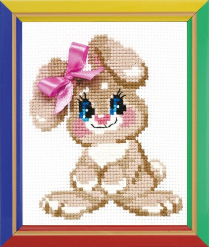 Happy Bee - Modello per Punto a Croce su Tela, Motivo: Coniglietta
