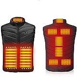YELITE Women Men Heated Vest Elastic Heated Jacket Lightweight Waistcoat, USB Rechargeable Heating Body Warmer for Outdoor Motorcycle Riding Hunting, 3 Adjustable Temperature, Unisex (M)