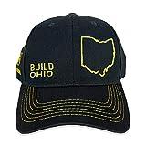 John Deere Build State Pride - Sombrero de sarga completo, color negro y amarillo - negro - talla única