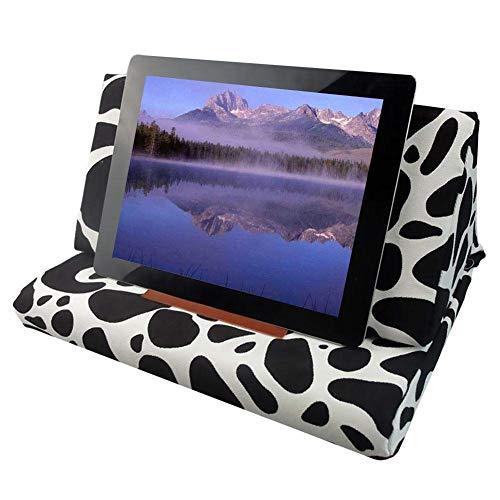 Iwinna Soporte de almohada para iPad, lona impresa de tres lados plegable almohada de lectura para tabletas, teléfonos, libros electrónicos, libros electrónicos y libros