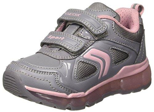 Geox Geox Mädchen J Android Girl A Sneaker, Grau (Grey/Pink), 32 EU