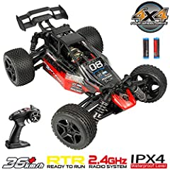 🎅【Extremely High Speed】 --- 1:16 scale big size rc cars for adults and boys, the max speed can reach up to 36km/h, which is high speed running, full proportional super-fast RC monster truck are special designed for tough environments and any rugged r...
