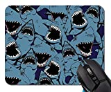 Mouse Pad,Angry Shark Mouse Pad Rectangle Non-Slip Rubber Mousepad Office Accessories Desk Decor Mouse Pads for Computers Laptop