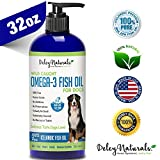 Wild Caught Fish Oil for Dogs - Omega 3-6-9, GMO-Free - Reduces Shedding, Supports Skin, Coat,...
