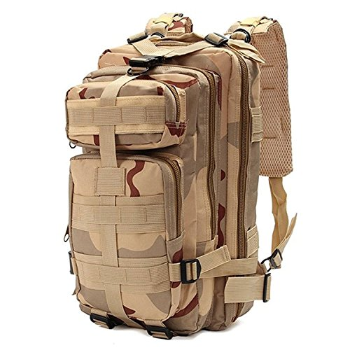 Minetom 30L Multi-Fonction Étanche Tactique Backpack Camouflage Militaire Sac à Dos Randonnée Trekking Camping Chasse Voyage Camouflage05 One Size
