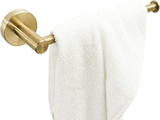 BATHSIR Gold Towel Ring Towel Holder for Bathroom Wall Mount Bath Towel Bar Hanger Stainless Steel