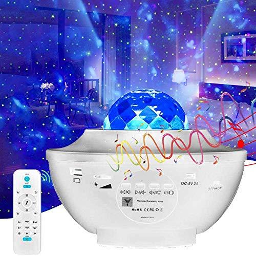 LED Sternenhimmel Projektor, Sternenlicht Projektor Nachtlicht mit Starry Stern/Wasserwellen für Party