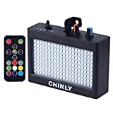 Strobe Light, CHINLY LED Party Stage Lighting RGB 35W 180leds Sound Control Auto