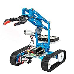 Programmable robot claw on wheels.