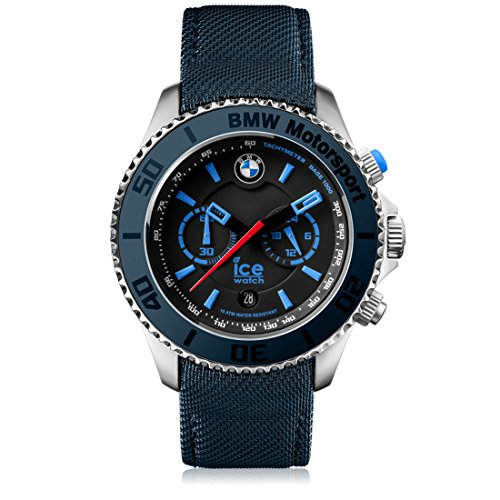 Ice-Watch - BMW Motorsport (steel) Dark & Light BE - Men's wristwatch with leather strap - Chrono - 001121 (Large)
