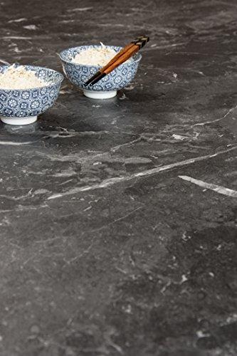 WORKTOPEXPRESS Schwarzer Marmor - Resopal Küchenarbeitsplatten (3m × 600mm × 38mm)