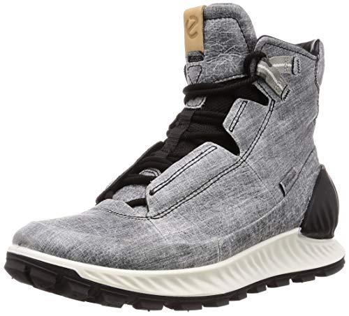ECCO Men's Exostrike Mid DYNEEMA Hiking Shoe, Black/Concrete, 11-11.5