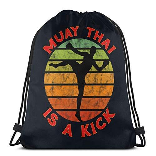 XCNGG Muay Thai Drawstring Backpack Rucksack Shoulder Bags Gym Bag