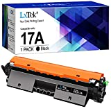 LxTek Toner (con Chip) Compatible para HP CF217A 17A Cartuchos de tóner para HP Laserjet Pro M102W M130fw M130nw M130fn M102a M130a (1 Negro)