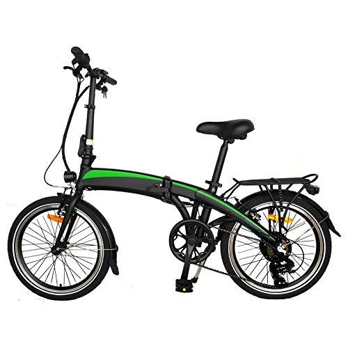 Bicicleta Plegable electrica Adultos Bicicleta de montaa elctrica Pantalla LCD de Bicicleta de Ciudad eléctrica Bicicleta eléctrica con batería extraíble Adecuado para Regalos para Adultos.