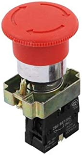22mm NC Red Mushroom Emergency Stop Push Button Switch 600V 10A