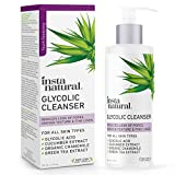 Glycolic Acid Facial Cleanser - Wrinkle, Fine Line, Age Spot & Hyperpigmentation Exfoliating Women & Men's Face Wash - Clear Skin & Pores - Glycolic, Organic Extract Blend & Arginine - InstaNatural - 6.7 oz