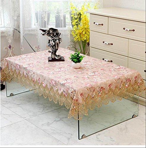 TABLECLOTH kant thee tafel rond tafelkleed, restaurant banket rechthoekig tafelkleed TV koelkast bloemenstandaard plaats doek (kleur: D, grootte : 110 * 160cm)