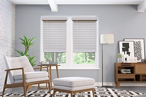 "Windowsandgarden Custom Cordless 2"" Faux Wood Blinds Sizes 20-72 Wide, 30w x 38H, White"