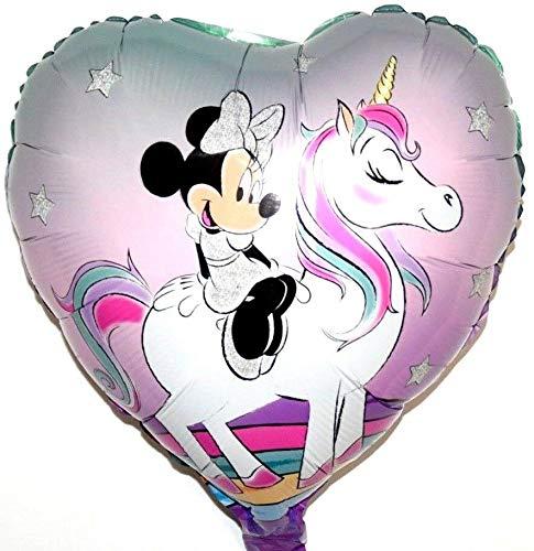 SauParty Disney Minnie Ratón Unicornio Niña Regalo de Cumpleaños Helio Globo de Plástico