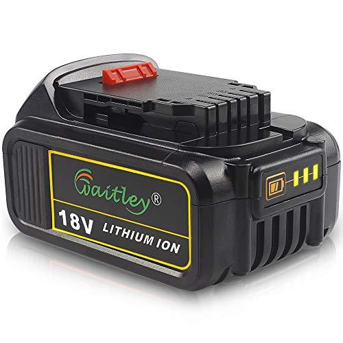 Sostituzione QUPER 18V-20V 5.0 Ah DCB184 MAX XR agli ioni di litio per Dewalt DCB180、DCB181、DCB182、DCB201、DCB201-2、DCB200、DCB200-2、DCB204-2、DCB205-2 18V-20V Batteria