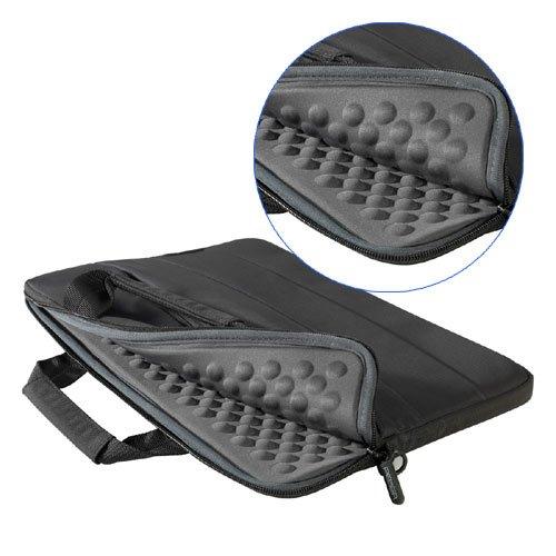 Custodia per ultrabooks/ MacBook 33,8 cm (13,3 pollici) - nero con scomparto supplementare
