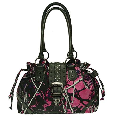 Monte Vista Muddy Girl Handtasche mit Kordelzug und Schnalle, Pink (Muddy Girl), Einheitsgröße