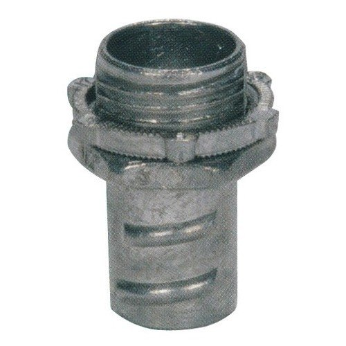 """Morris Products Screw-in Connectors for Greenfield, Flex Conduit – Zinc Die Cast Locknut – to Connect Flexible Metallic Conduit to Metal, Steel Outlet Box – 3/4"""""""