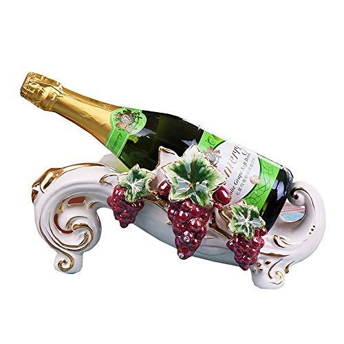 LXD Estantes de Vino, Cerámica de Uva Moda Creativa Armario de Vino Decoración Sala de Estar Restaurante Cocina Casa Práctica