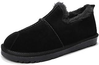 JIANFEI LIANG Men's Snow Boots Casual Low Top British Style Winter Faux Fleece Inside Home Shoes Casual (Color : Gray, Size : 40 EU)