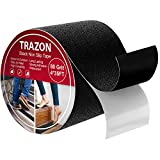 Grip Tape - Heavy Duty Anti Slip Tape for Stairs Outdoor/Indoor Waterproof 4Inch x 35Ft Safety Non Skid Roll for Stair Steps Traction Tread Staircases Grips Adhesive Non Slip Strips Nonslip Walk Black