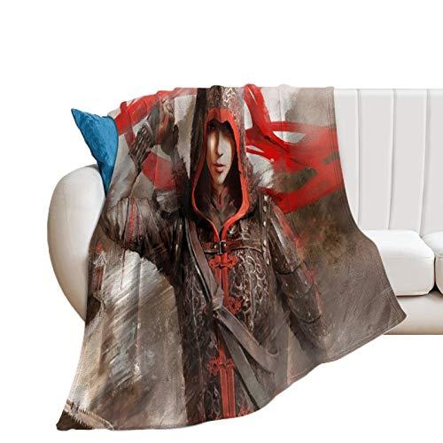 Manta para dormitorio de la universidad, Assassin's Creed Chronicles Game The Girl with The Sword, manta de aire acondicionado, 180 x 200 cm